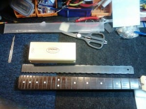 Step 6 - Fret Wire Removed