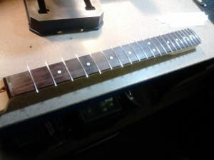 Step 10 - Frets Bedded