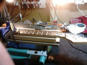 Step 1 - Neck Clamped in Place