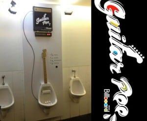 Guitar Shaped Urinal
