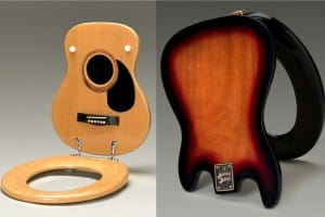 Guitar Shaped Toilet Seat