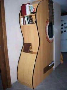 Guitar Shaped Bookshelf