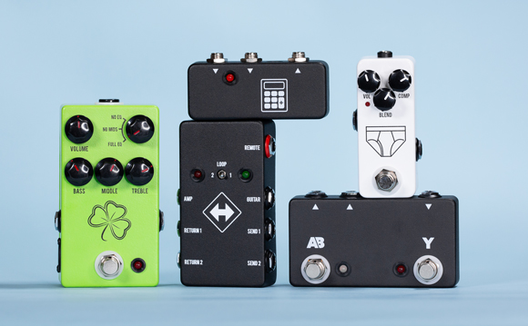 5 New JHS NAMM 2019 pedals, Whitey Tighty Mini Compressor, The Clover Preamp, Active A/B/Y, Summing Amp, Switchback, NAMM 2019