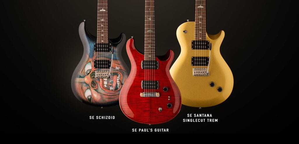 PRS Guitars Introduces Three New SE Signature Models: SE Schizoid, SE Paul's Guitar and SE Santana Singlecut Trem.