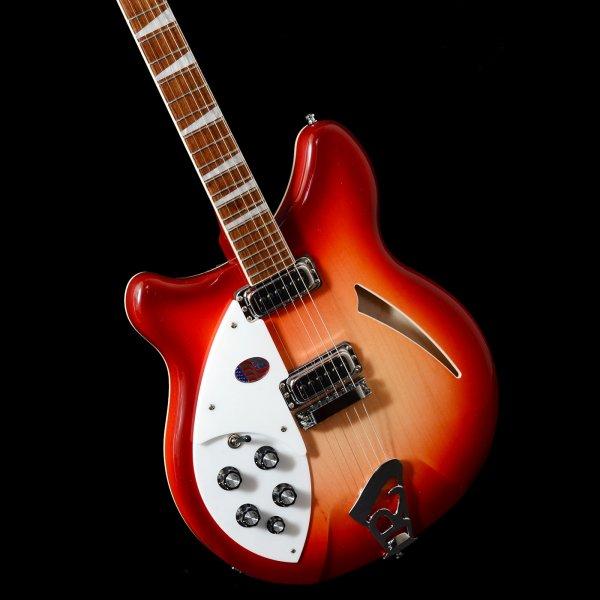 rickenbacker 360 6 fireglo left handed 6 string electric guitar lefty. Black Bedroom Furniture Sets. Home Design Ideas