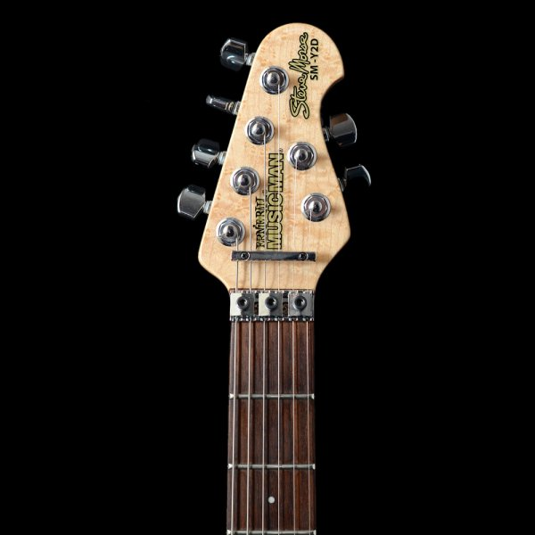 music man steve morse y2d purple sunset with tremolo electric guitar pre owned music man from. Black Bedroom Furniture Sets. Home Design Ideas