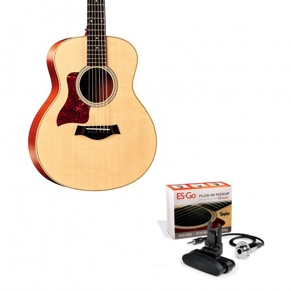 gs mini lefty acoustic guitar in natural w es go pickup buy taylor. Black Bedroom Furniture Sets. Home Design Ideas