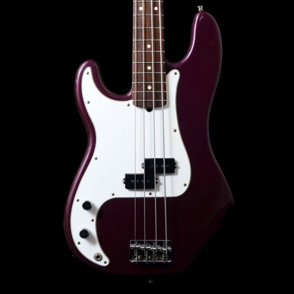 left handed 1998 usa fender precision bass in midnight wine. Black Bedroom Furniture Sets. Home Design Ideas