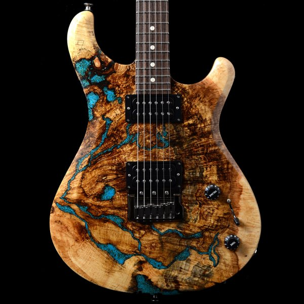 knaggs severn trembuck t3 spalted maple with chrysocolla stone inlays. Black Bedroom Furniture Sets. Home Design Ideas