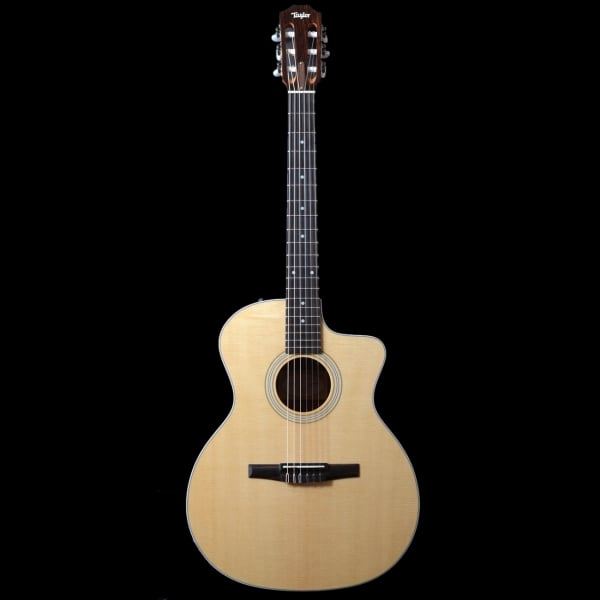 pre owned taylor 214ce n grand auditorium electro acoustic nylon string. Black Bedroom Furniture Sets. Home Design Ideas