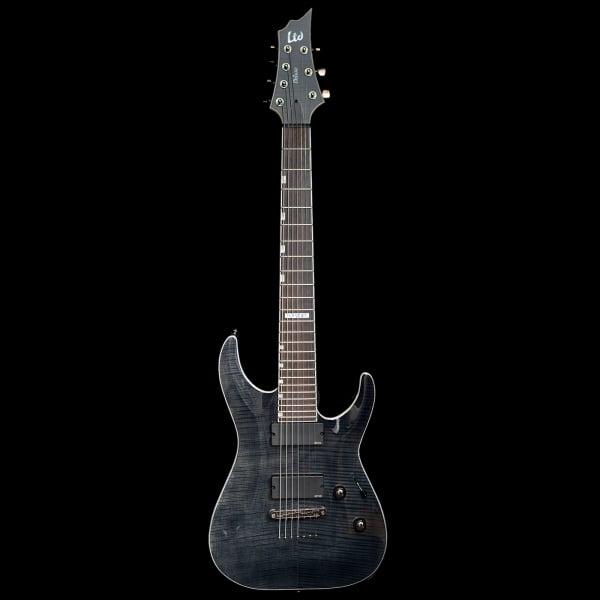 esp ltd h 1007 7 string guitar w emg 707 pickups black pre owned. Black Bedroom Furniture Sets. Home Design Ideas
