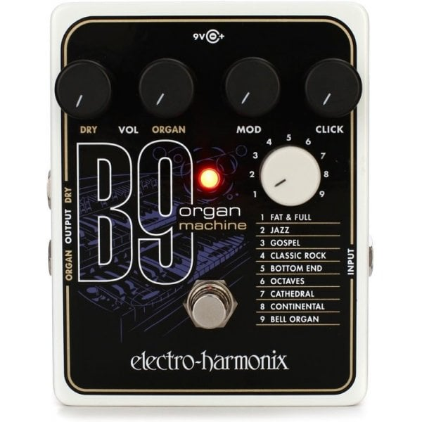 electro harmonix b9 organ machine guitar effects pedal b stock. Black Bedroom Furniture Sets. Home Design Ideas