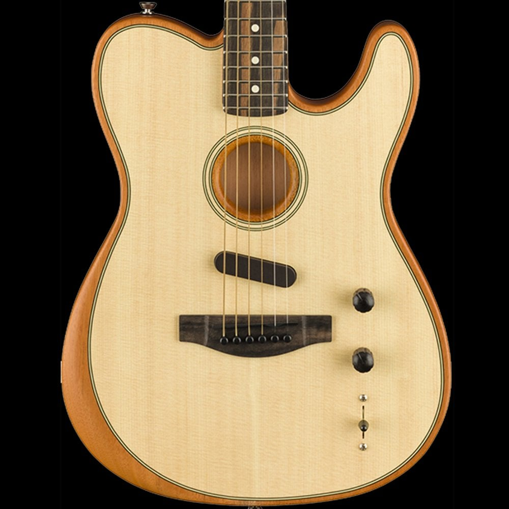 fender american acoustasonic acoustic electric telecaster guitar hybrid natural sound affects. Black Bedroom Furniture Sets. Home Design Ideas