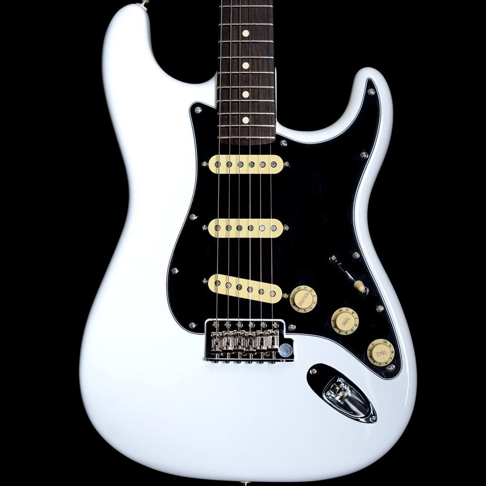 fender american performer stratocaster electric guitar in arctic white w yosemite pickups. Black Bedroom Furniture Sets. Home Design Ideas