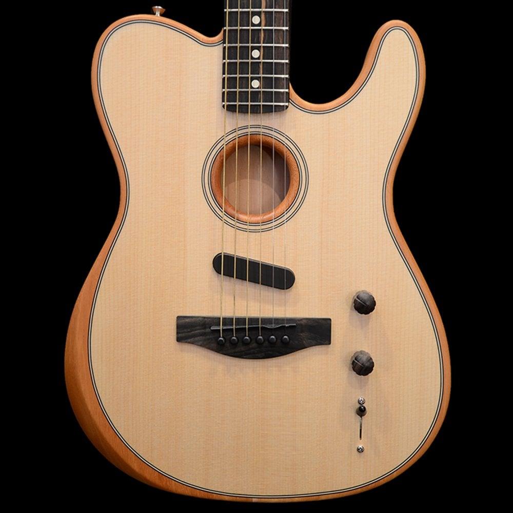 fender american acoustasonic acoustic electric telecaster guitar hybrid natural sound affects. Black Bedroom Furniture Sets. Home Design Ideas