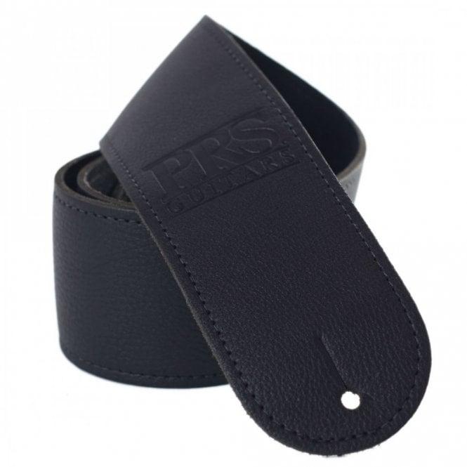 PRS Logo Leather Guitar Strap Black