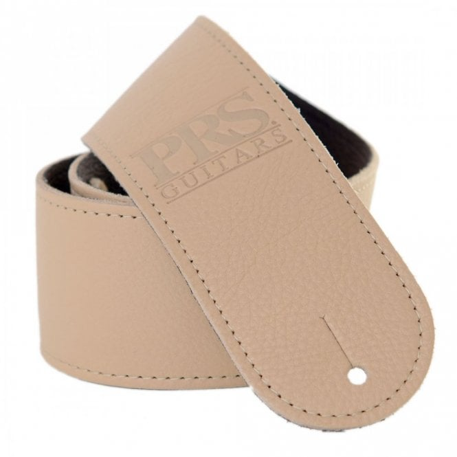 PRS Logo Leather Guitar Strap Tan
