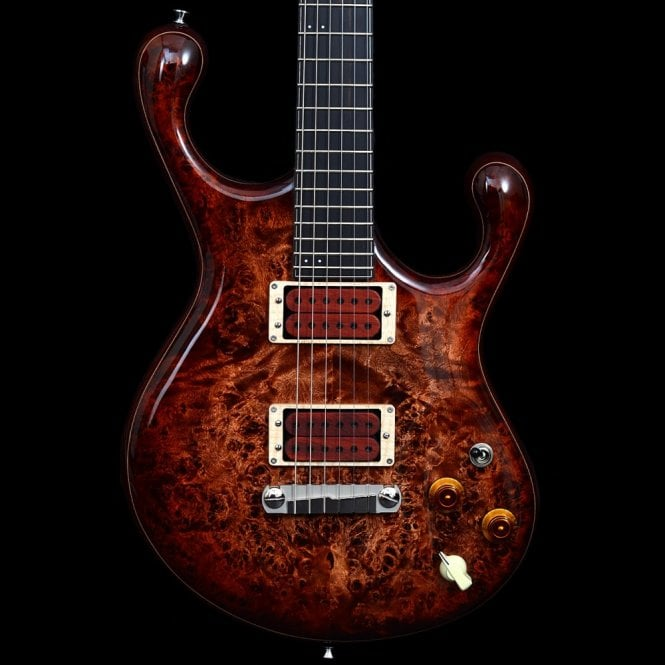 Fibenare Erotic Dalmat Electric Guitar with 5A Burl Poplar Top