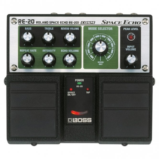 Boss RE-20 Space Echo Twin Guitar Pedal