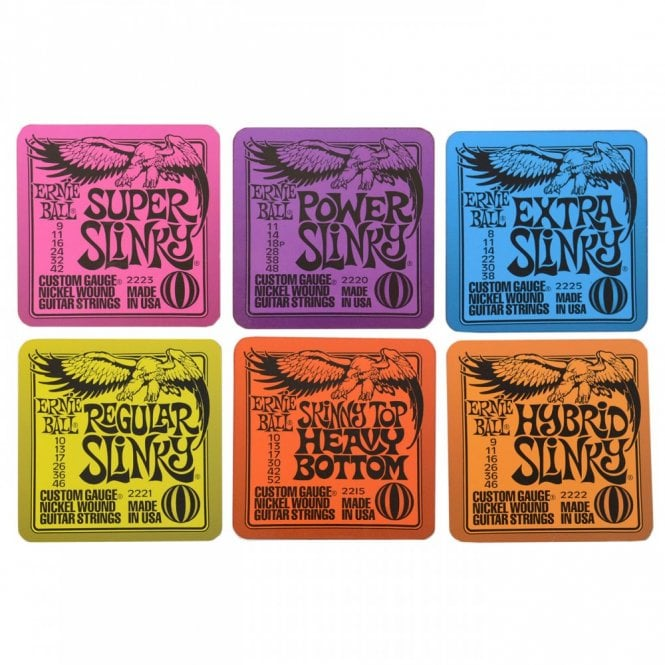 Ernie Ball Slinky Drink Coasters (Set Of 6), Slinky Guitar String Designs