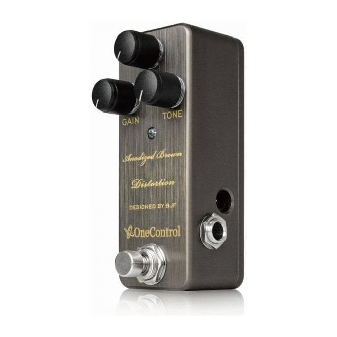 Designed By BJF One Control Anodized Brown Distortion NEW