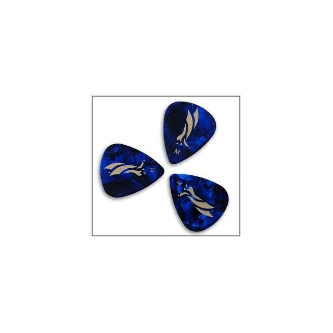 PRS Blue Pearloid Celluloid Guitar Plectrums x12