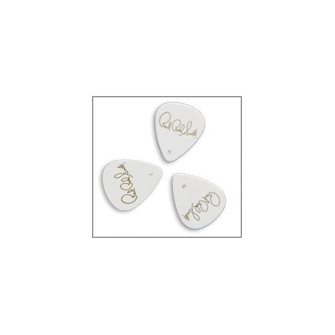 PRS Solid White Guitar Plectrums x12