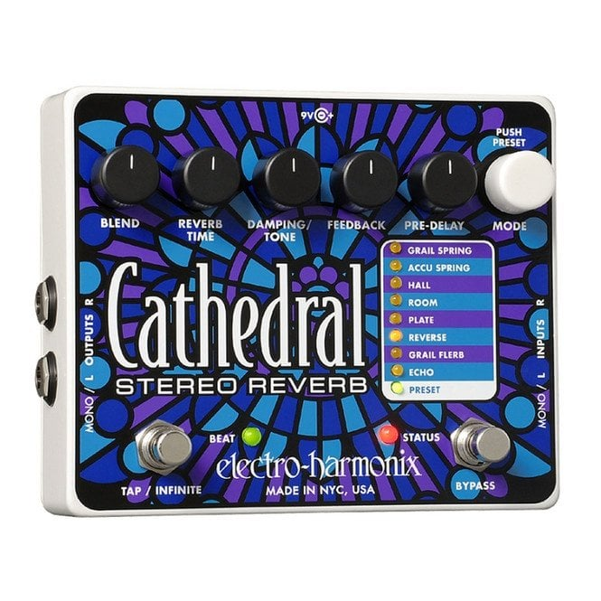 Electro Harmonix Cathedral Deluxe Reverb Guitar Effects Pedal