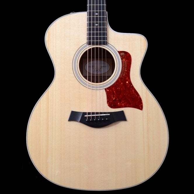 Taylor 214ce K DLX  Koa Grand Auditorium Electro Acoustic With Cutaway In Natural