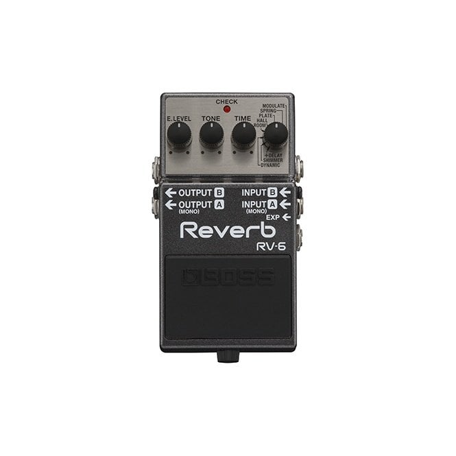 Boss RV-6 Reverb Compact Guitar Effects Pedal