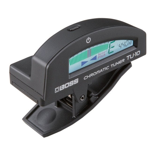 Boss TU-10 Clip On Tuner - (Black, Brown, Blue, Red or Silver Options)