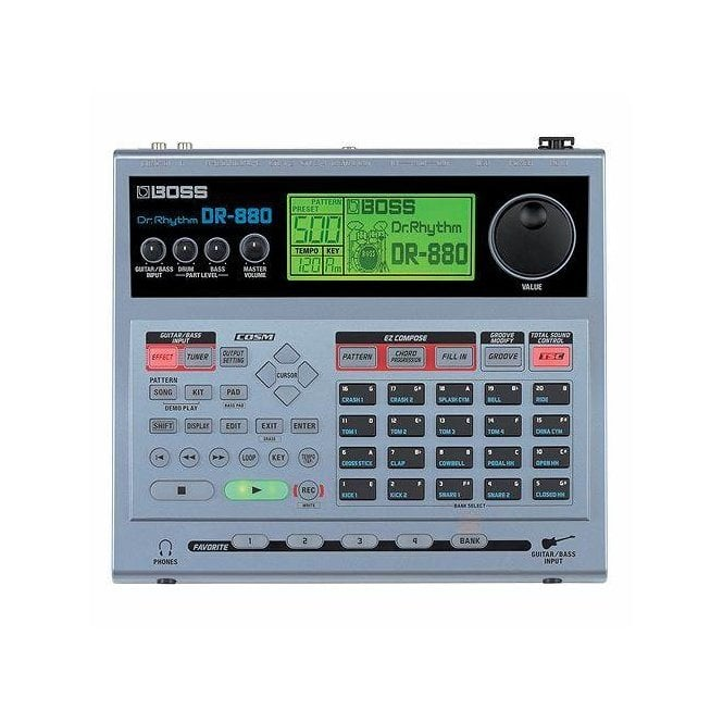 Boss DR-880 Dr. Rhythm 32 Voice Pattern-Based Drum Machine with FX