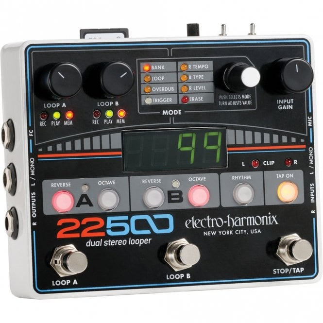 Electro Harmonix 22500 Dual Stereo Looper for Guitar & Vocals