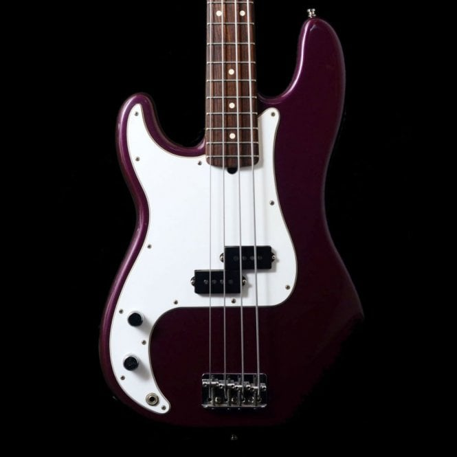 Fender Left Handed American Standard Precision Bass In Midnight Wine, 1998 Pre-Owned Bass
