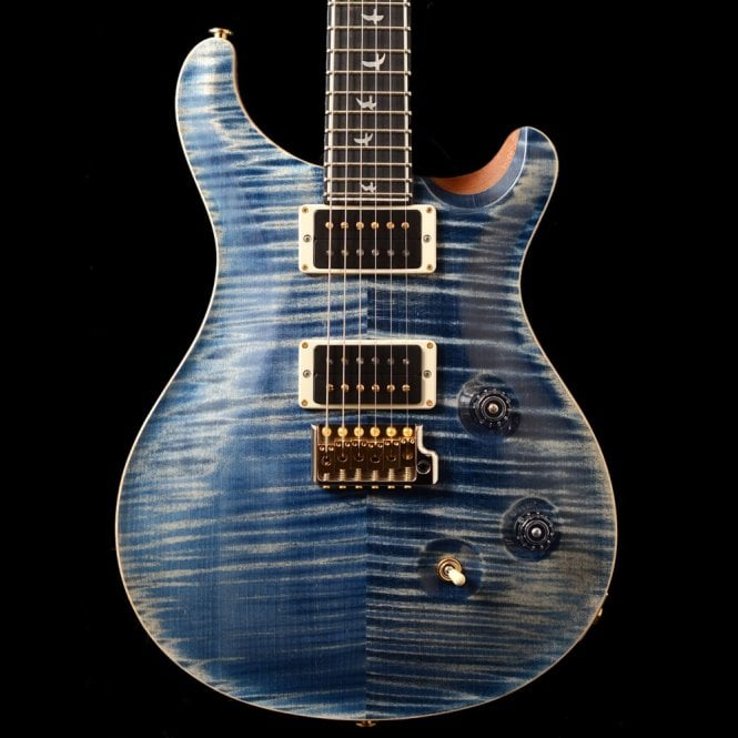 PRS Wood Library Custom 24 'Fat Back' In Faded Whale Blue