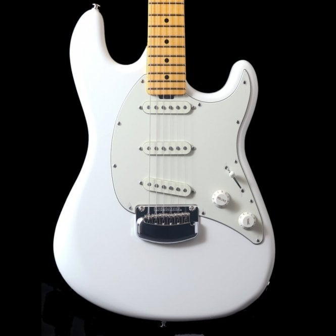 Music Man Cutlass Electric Guitar, Ivory White with Maple Neck