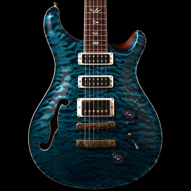 PRS Private Stock Studio Semi-Hollow #3530 In Blue Green, Pre-Owned