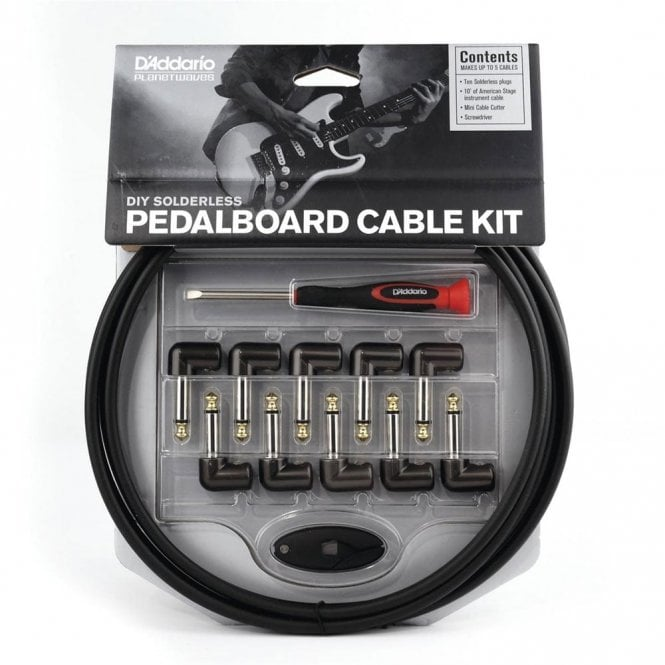 D'Addario Planet Waves Solderless Custom 10ft Cable Kit with 10 Plugs