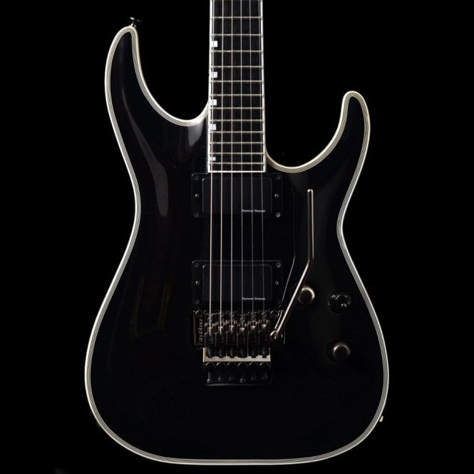 ESP Horizon HRF FR BK In Black With Floyd Rose, Pre-Owned Guitar