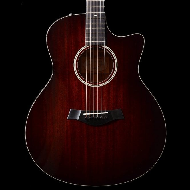 Taylor 526ce (2016) Grand Symphony Electro Acoustic Guitar, Tropical Mahogany In Shaded Edgeburst