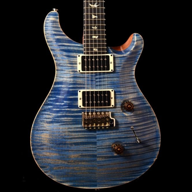 PRS Custom 24 10-Top In Faded Blue Jean With Honduran Rosewood Neck #289002