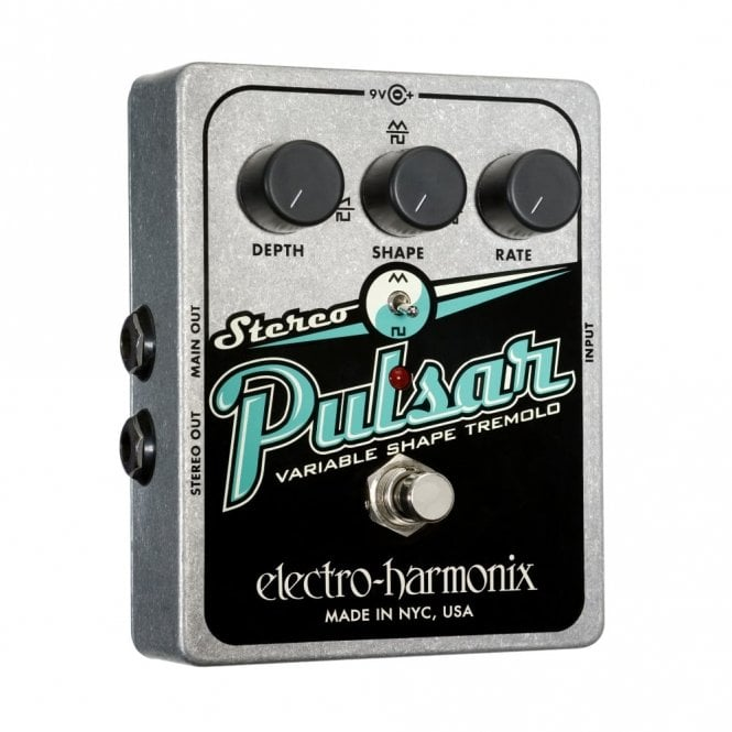 Electro Harmonix Stereo Pulsar Tremolo Effects Pedal