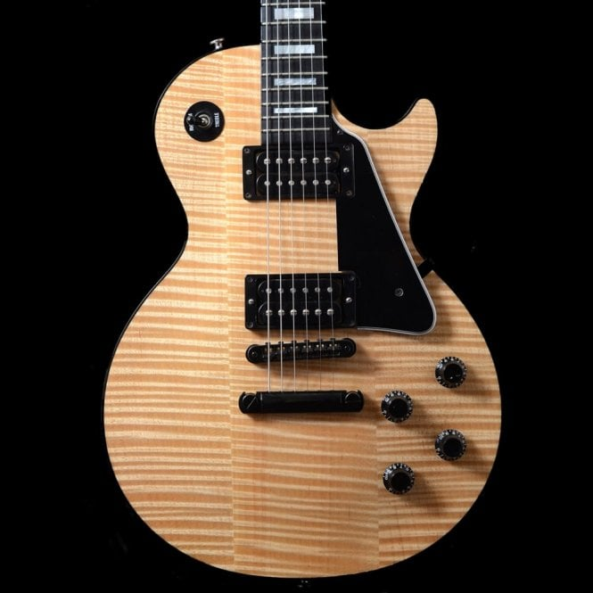 Gibson Custom Shop Les Paul Custom Natural Flame Top Electric Guitar, 1998 Pre-Owned