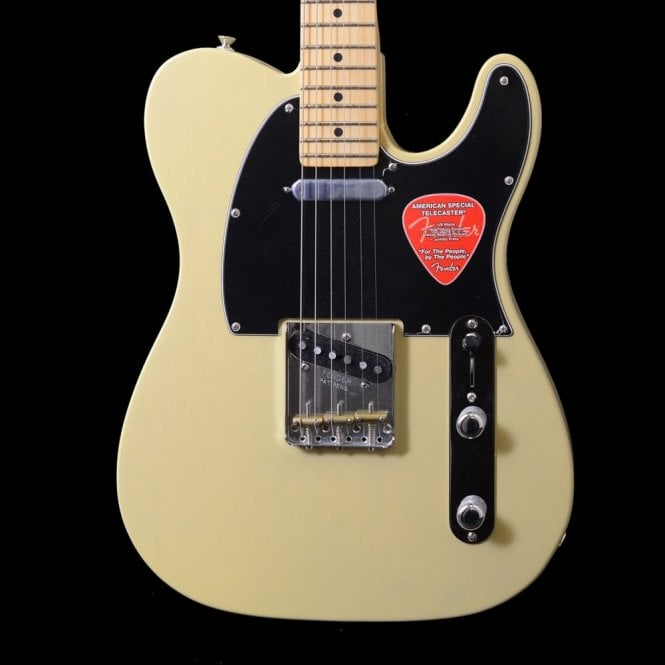 Fender American Special Telecaster Electric Guitar In Vintage Blonde With Maple Fretboard