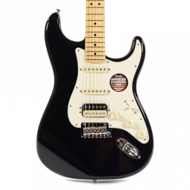 Fender American Standard Stratocaster HSS Shawbucker, Maple Fretboard, Black