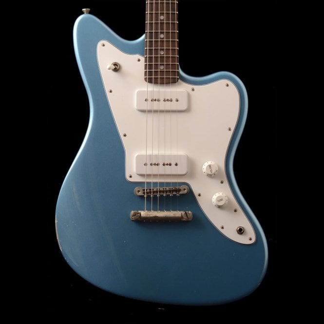 Fano JM6 Standard P90 Electric Guitar, Ice Blue Metallic