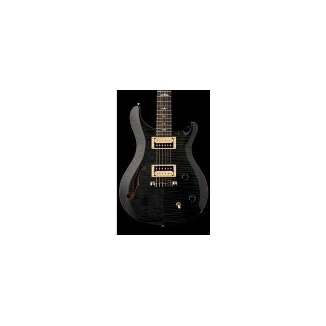 PRS SE Custom 22 Semi Hollow - Grey Black - Electric Guitar - With Padded Gigbag