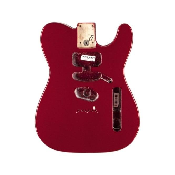 Fender Replacement USA Alder Tele Body Modified Bridge Mount (Mystic Red)