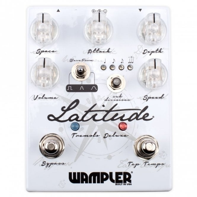 Wampler Latitude Deluxe Tremolo Effects Pedal