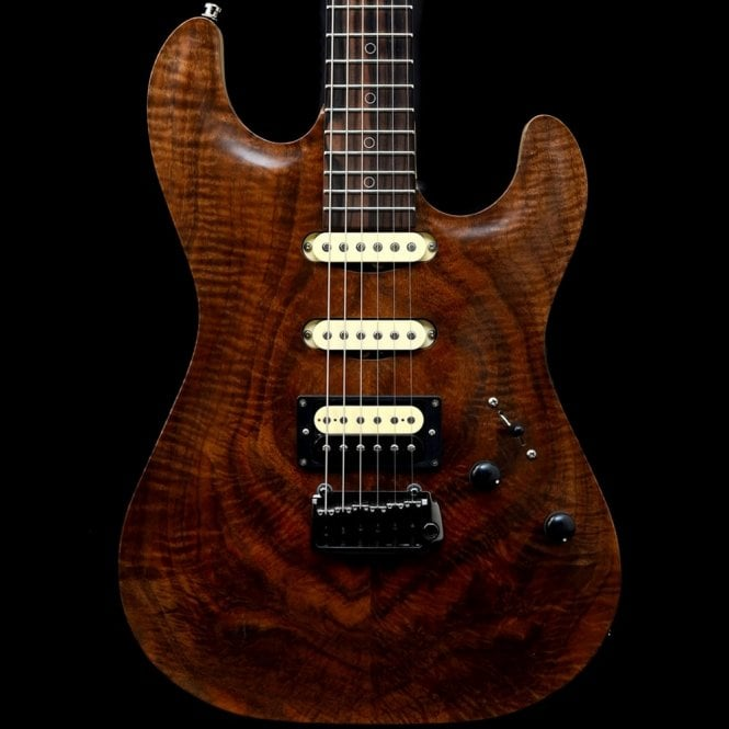 Patrick James Eggle 96 Walnut Carve Top with Chambered Swamp Ash Body